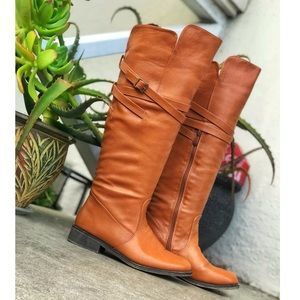 TOP Moda Caramel knee High Boots Size 6.5